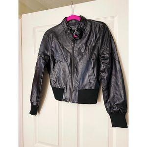 Last Kiss Black Faux Leather Jacket
